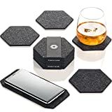 Coasters For Drinks Set of 9 | Absorbent Felt