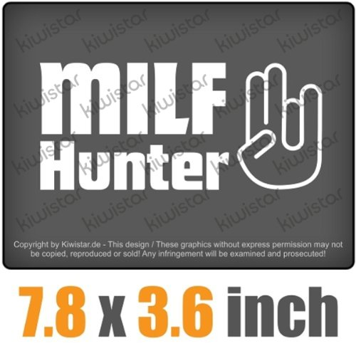 milf hunter shocker 7.8 x 3.6 inch JDM Decal Sticker Aufkleber Racing DUB Die Cut