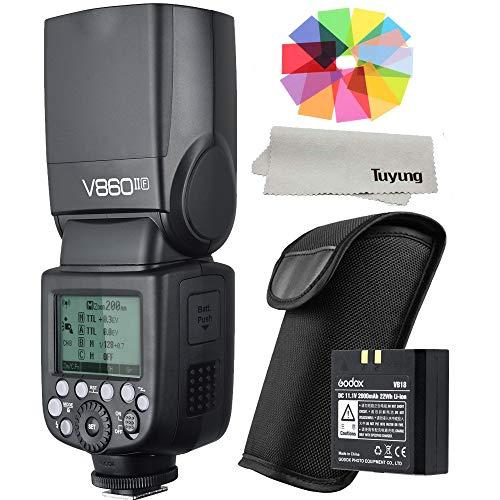 Godox V860II-F E-TTL HSS 1/8000s 2.4G GN60 Li-ion Battery Camera Flash Speedlite for Fujifilm Camera X-Pro2 X-T20 X-T1 X-T2 X-Pro1 X100F