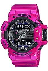 Casio G-Shock Black Dial Resin Quartz Men's Watch GBA400-4C