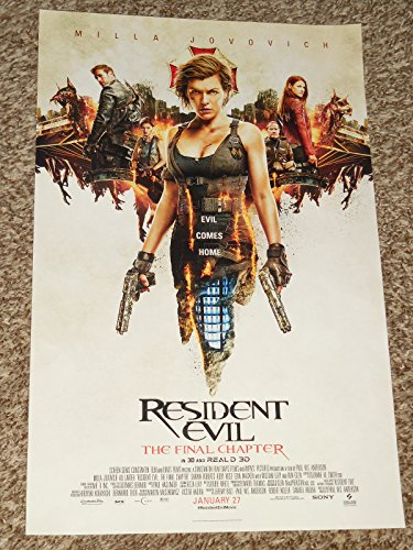 Resident Evil  The Final Chapter  B  11X17 Inch Promo Movie Poster