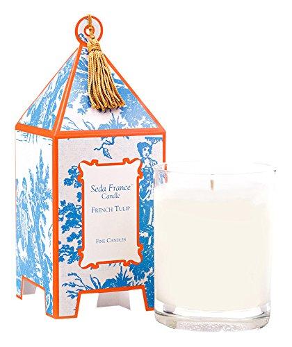 (Seda France Classic Toile Mini Pagoda Box Candle, French Tulip, 2 Ounce )