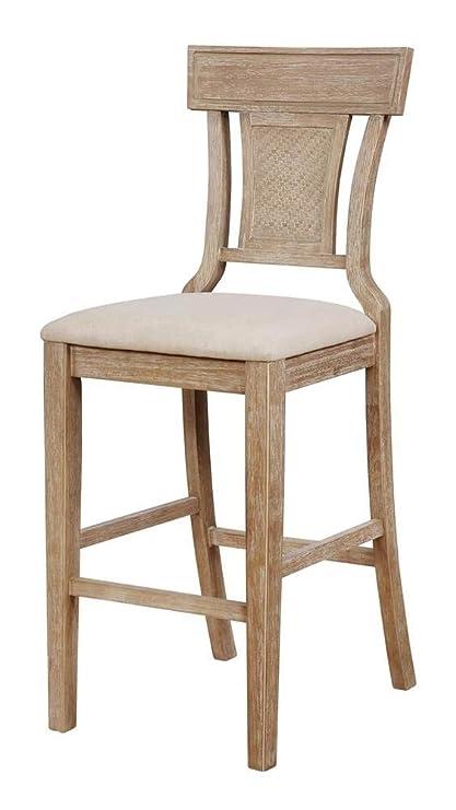 Remarkable Amazon Com Linon Rylan Barstool In Gray Wash And Brown Creativecarmelina Interior Chair Design Creativecarmelinacom
