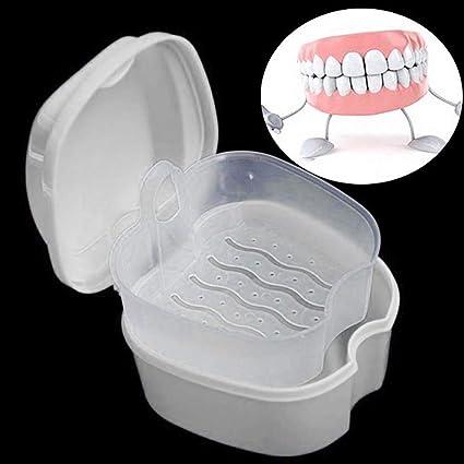 60645f25b202 Amazon.com: Denture Case, Denture Cup with Strainer, Denture Bath ...