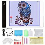 Y-Step A4 LED Light Pad, Light Board Stand Holder and 30 Pieces 5D Diamond Painting Tools with 28 Slots Box for Diamond Painting Sketching Drawing