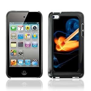 CQ Tech Phone Accessory: Carcasa Trasera Rigida Aluminio Para Apple iPod Touch 4 - Cool Fire & Match