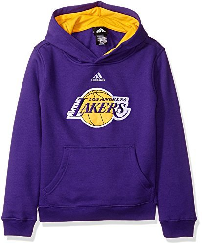 Adidas La Lakers Sweatshirt - Los Angeles Lakers Adidas Kids Purple Prime Pullover Hoodie (Kids 5/6)