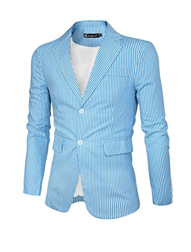 Allegra Notched Lapel Stripes Blazer