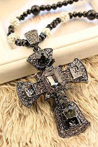 Generic European jewelry _sleek versatile_ sweater chain large _cross_ necklace pendant women girls _Korean_long,_exaggerated Korean_ jewelry _accessories. - Sleek Cross