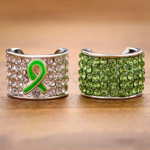 - Charmed Stethoscope Charm - Lime Ribbon Awareness Combo