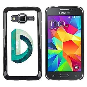 Shell-Star Arte & diseño plástico duro Fundas Cover Cubre Hard Case Cover para Samsung Galaxy Core Prime / SM-G360 ( D Mobius Impossible Teal White )