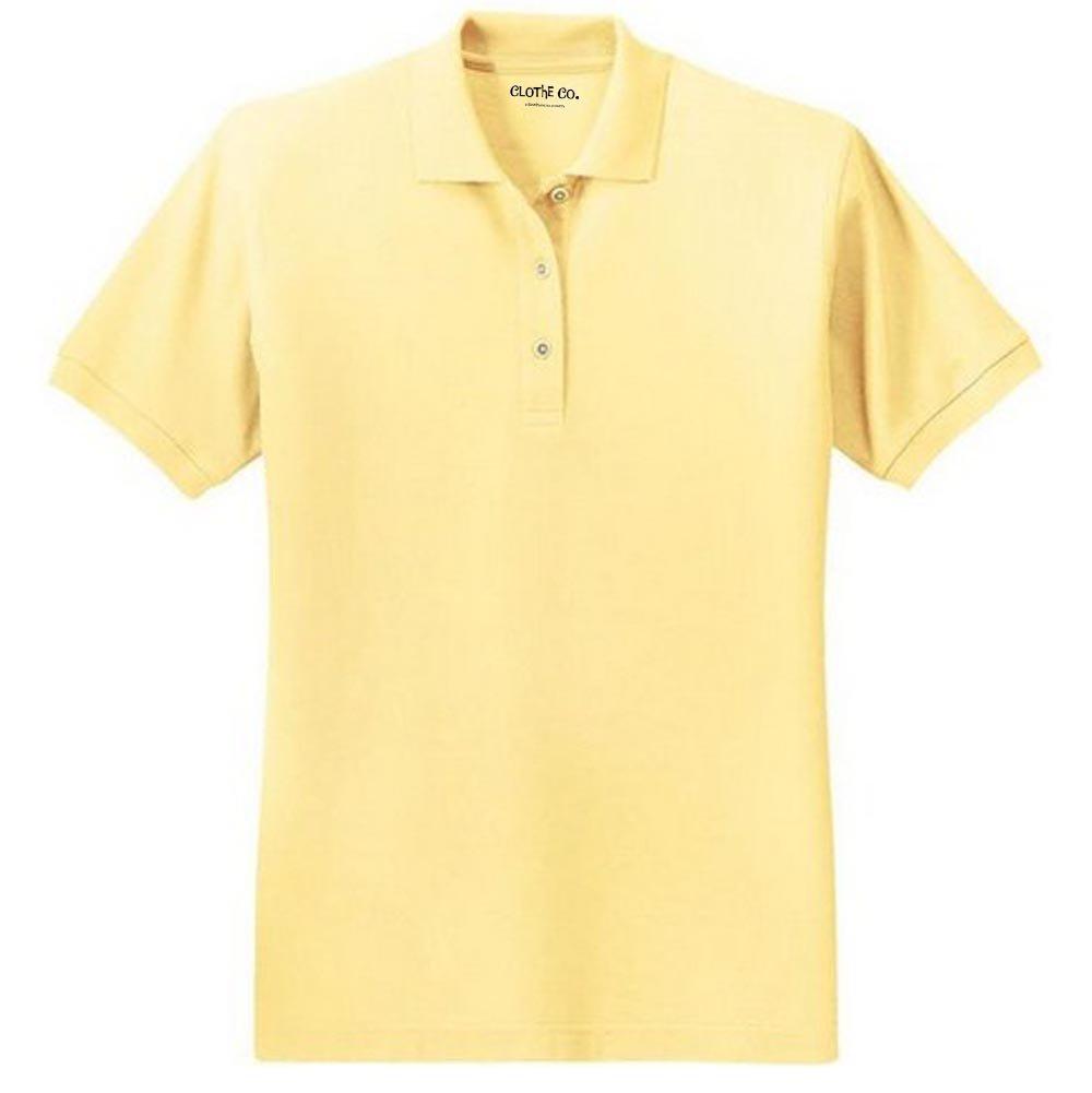 Clothe Co. Ladies Short Sleeve Polo Shirt, Banana, XL