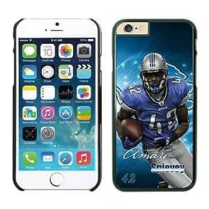 NFL iPhone 6 Plus 5.5 Inches Case Detroit Lions Amari Spievey Black iPhone 6 Plus Cell Phone Case ONXTWKHB1444