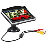 Hot sale 5.0 Inch HD TFT LCD Display Auto Car Screen Sucker Monitor 2-channel Video input for Car Reversing Rearview Camera/ Car DVD/VCD
