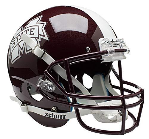 Schutt NCAA Mississippi State Bulldogs Replica XP Football Helmet, Classic
