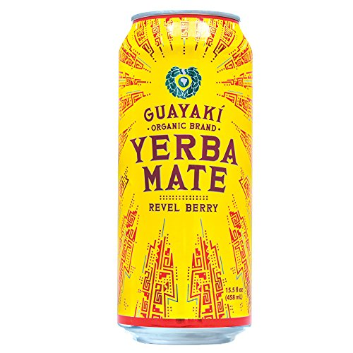 Guayaki Organic Yerba Mate, Revel Berry, 15.5 Ounce (Pack of 12)