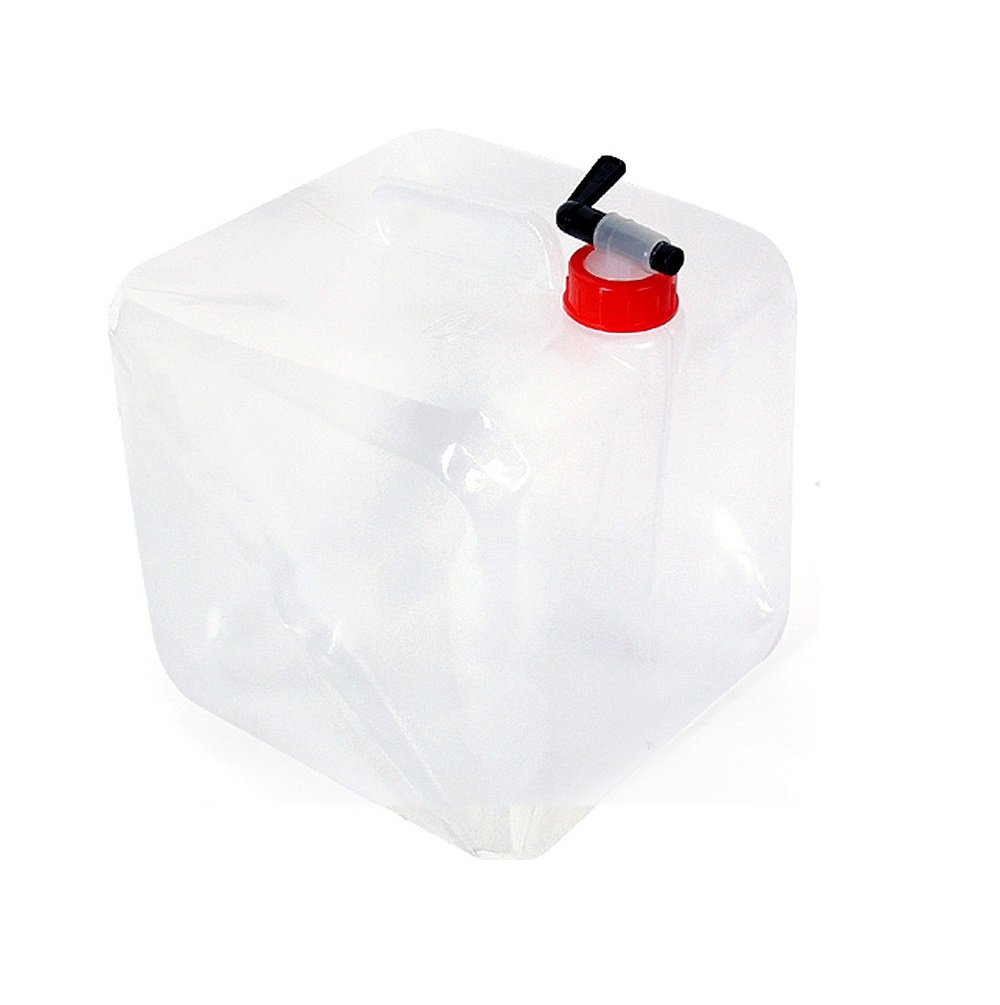 J-Creater 10L Liter Collapsible Water Carrier Container with Shut Off Spout for Camping Hiking Fishing Outdoor by J-Creater