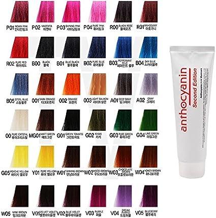 Anthocyanin Hair Manicure Color 230g (B03 PEPPERMINT BLUE) - Tinte de Pelo Semi Permanente - Color del Tentador - Protección UV - Proteína Vegetal