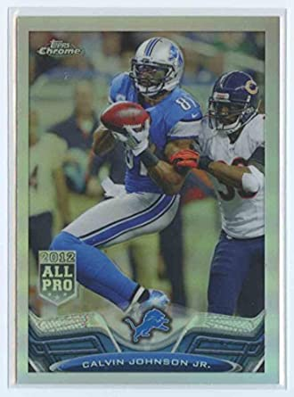 39faafee Amazon.com: 2013 Topps Chrome Refractor #200 Calvin Johnson Jr. NM ...