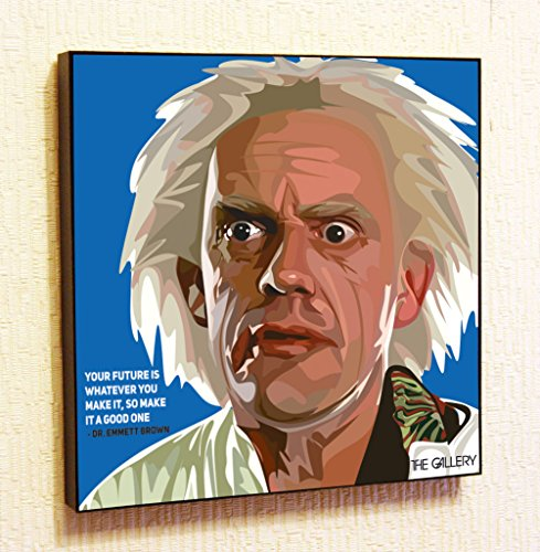 [Emmett Brown Back to the Future Cinema Artist Actor Decor Motivational Quotes Wall Decals Pop Art Gifts Portrait Framed Famous Paintings on Acrylic Canvas Poster Prints Artwork Geek Decor] (Ninja Turtle Face Painting)