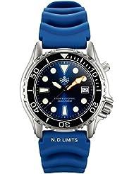 Phoibos Mens PX005B 1000M Dive Watch Swiss Quartz Blue Sport Watch