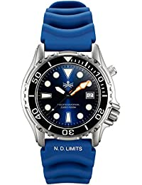 Mens PX005B 1000M Dive Watch Swiss Quartz Blue Sport Watch