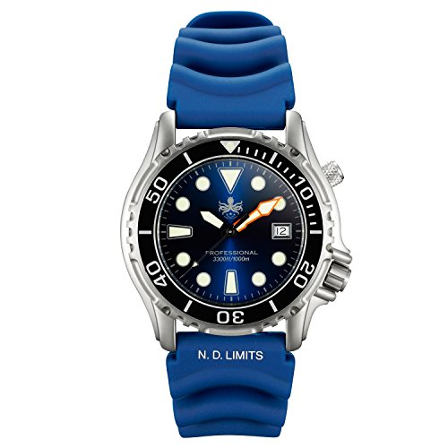 Phoibos Men's PX005B 1000M Dive Watch Swiss Quartz Blue Sport Watch