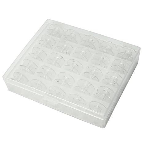 25 X Nuevas Bobinas de Máquina de Costura Plástico Con Caja Accesorio Práctico