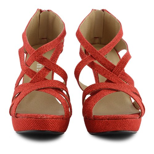 Footwear Sensation - Sandalias de vestir para mujer negro negro negro - rojo