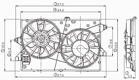 98 ford contour engine diagram amazon com cpp radiator cooling fan assembly for 95 00 ford  cpp radiator cooling fan assembly