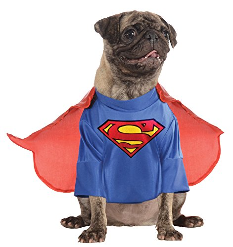 [UHC Superman Dc Comics Superhero Fancy Dress Puppy Halloween Pet Dog Costume, XL] (Dog Superman Costume Xl)
