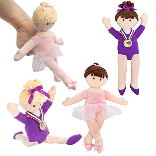 North American Bear Company (Set Of 4) Gymnast & Ballerina Finger Puppet For Kids Girl Doll Toys from North American Bear