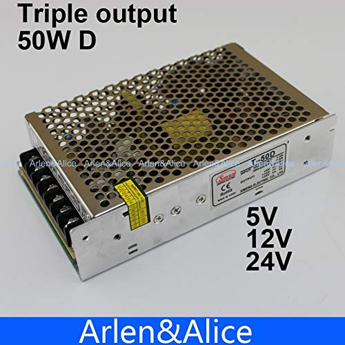- Utini T 50W D Triple Output 5V 12V 24V Switching Power Supply smps AC to DC