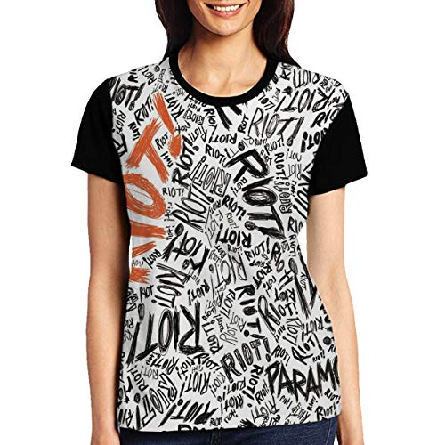 ByronJRivera Woman Paramore Riot! Casual Printed Short Sleeve T Shirts L -
