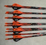 Easton Carbon Injexion 330 Deep Six Arrows w/Blazer Vanes Blaze Wraps 1 Dz.