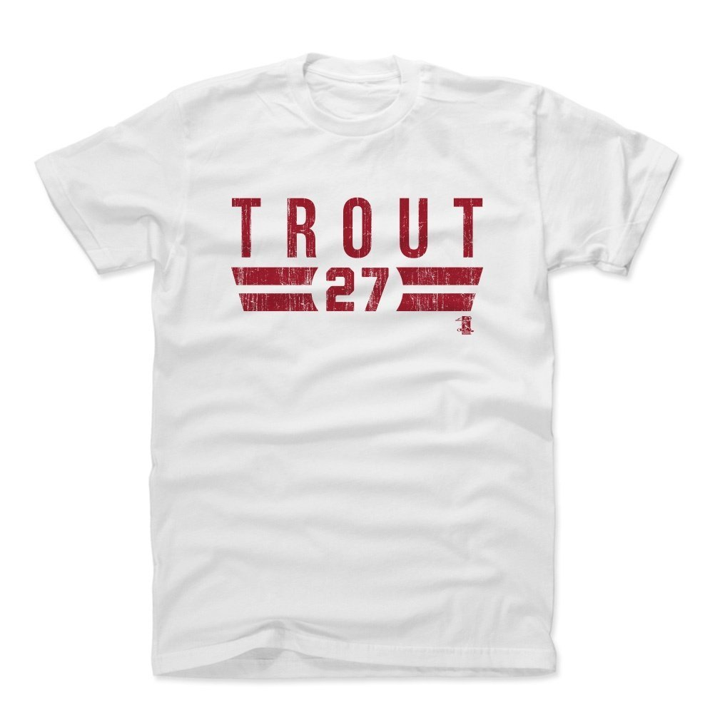 Mike TroutフォントR Los AngelesメンズコットンTシャツ B01N9DQCO4ホワイト X-Large