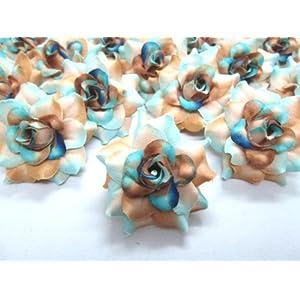 "(100) Silk Sea Beach Roses Flower Head - 1.75"" - Artificial Flowers Heads Fabric Floral Supplies Wholesale Lot for Wedding Flowers Accessories Make Bridal Hair Clips Headbands Dress 3"
