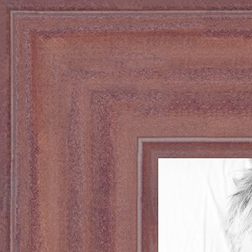 ArtToFrames 24x36 inch Ridged Mauve Barnwood Frame Wood Pict