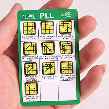 CFOP Cards F2L / OLL / PLL method cards speedcube: Amazon.es: Juguetes y juegos