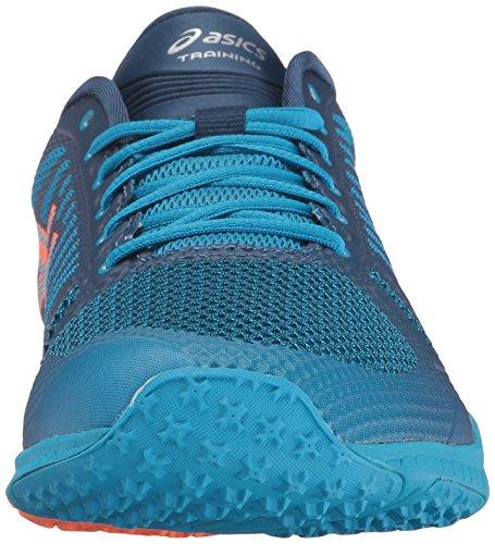Asics Mens Fuzex Tr Cross-trainer Scarpa Blu Gioiello / Argento / Arancione Caldo