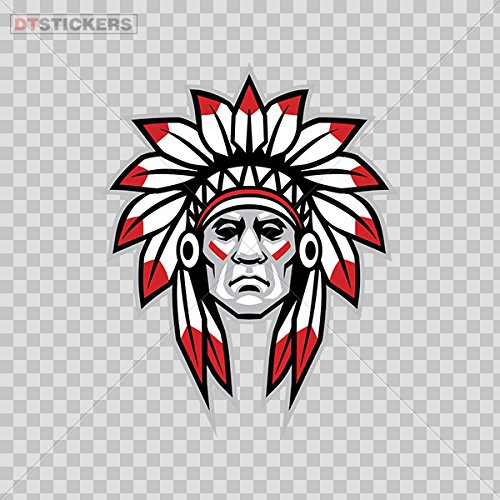 Vinyl Stickers Decal Native American Chief Head With Feathers For Helmet Waterproof D217 22577