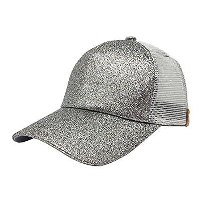Women Ponytail Baseball Cap Mesh,Vanvler Ladies Sequins Snapback Hat 2018 Sun Caps from Vanvler Girls Hat