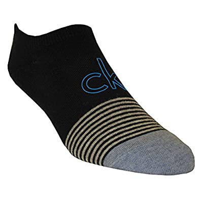 "Calvin Klein Big ""ck"" Logo No-Show Men's Liner Socks, Navy"