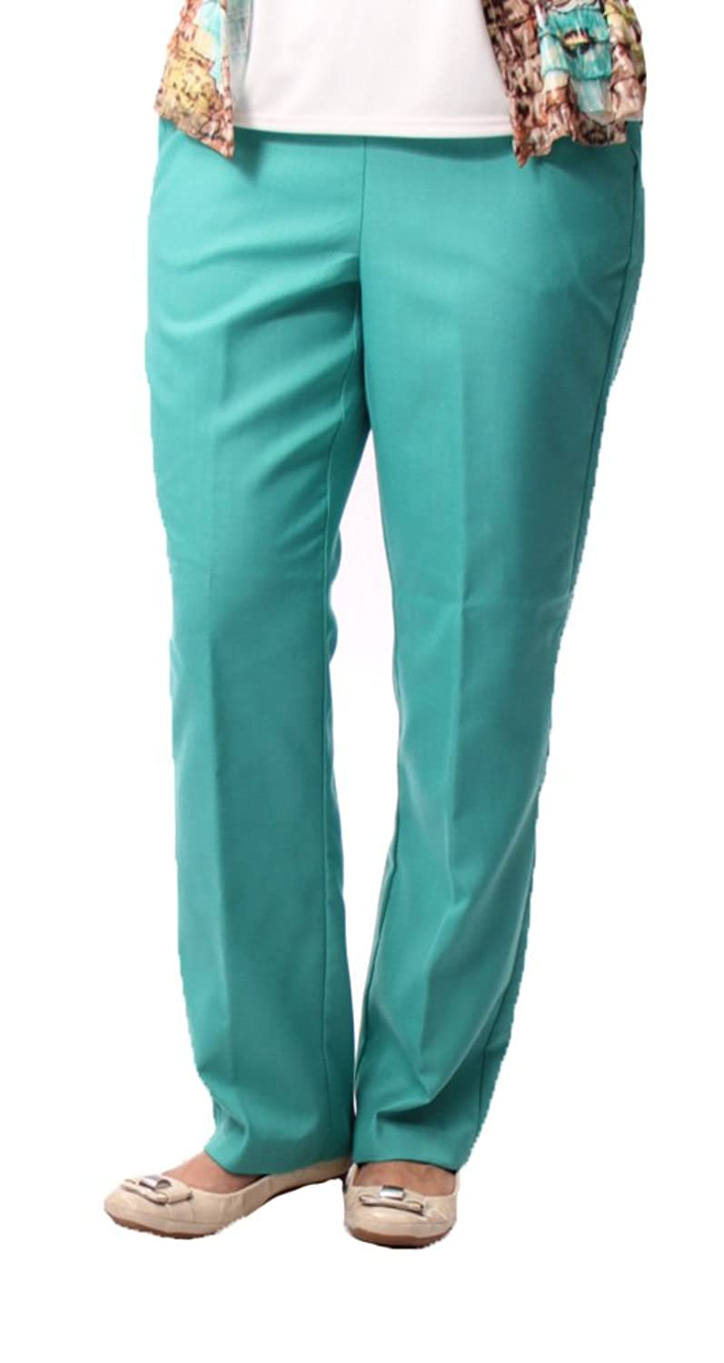 Proportioned Medium Pant in Turquoise By Alfred Dunner