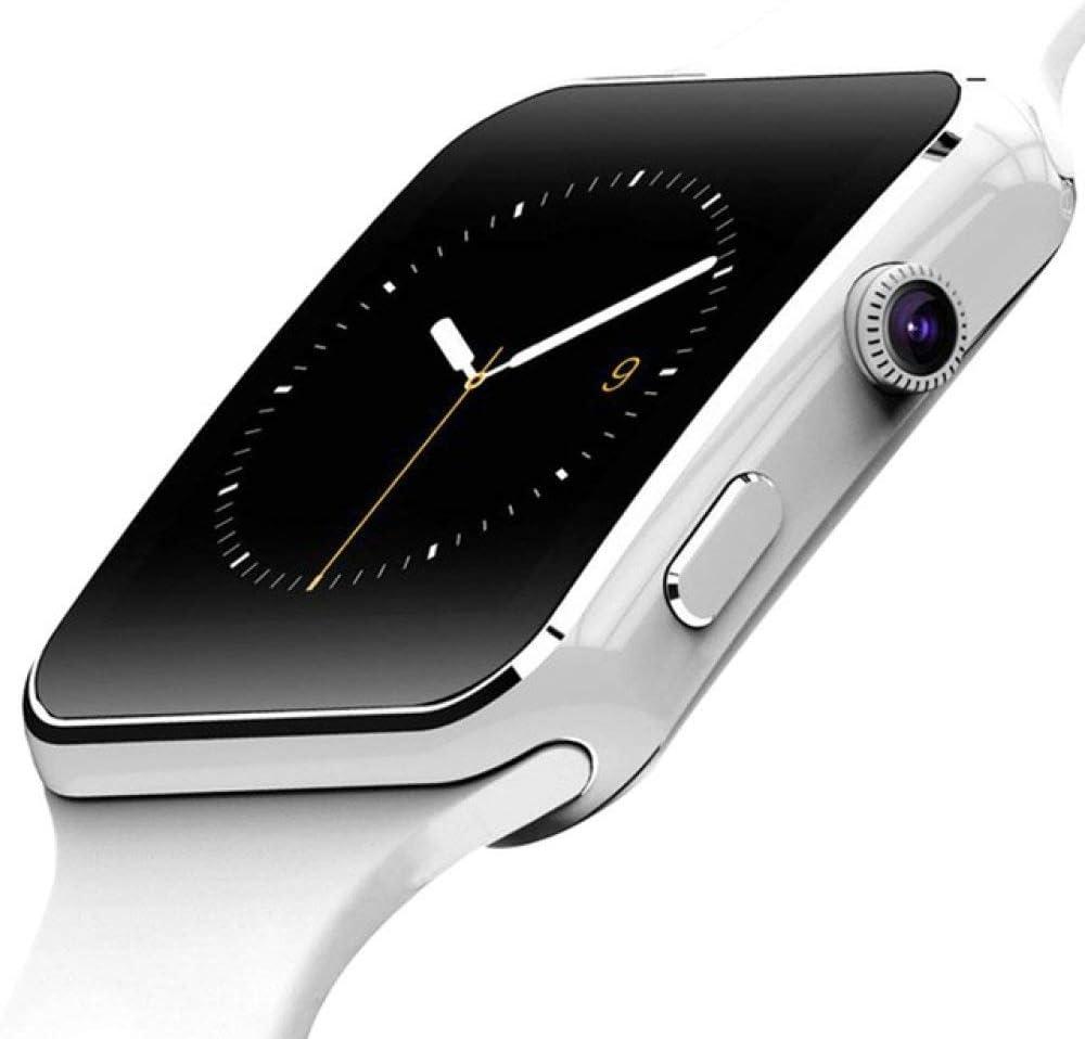 AAA&LIU X7 Reloj Inteligente Bluetooth con Soporte para cámara Tarjeta SIM TF Pantalla táctil Reloj Despertador Monitoreo del sueño Reloj Deportivo para niños Hombres Mujeres, Blanco