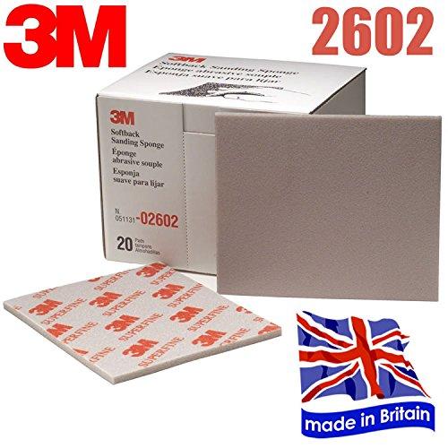 3 M 2602 Schleifschwamm Papier Superfine broschierte Ausgabe 3 Blatt DinDinStore