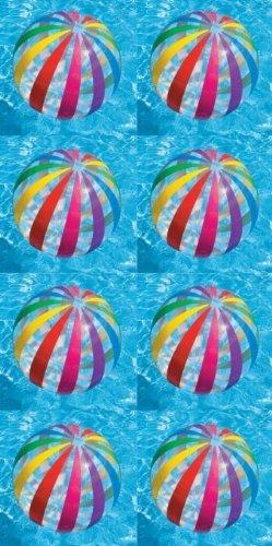 Intex Jumbo Inflatable Big Panel Colorful Polka Dot Giant Beach Balls (Set of 8) -