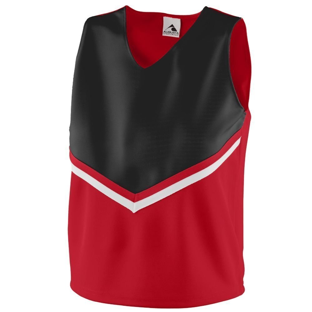Augusta Women's Sleeveless V Neck Pride Shell - Red/Black/White 9110A 2XL Augusta Sportswear