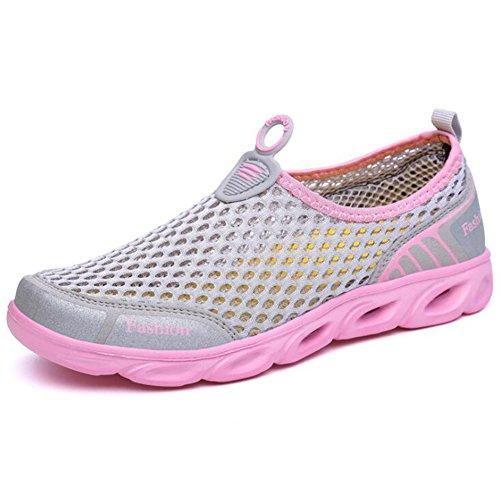 Zapatos Casuales de Las Mujeres, Zapatillas de Deporte Mesh New Sports Zapatos al Aire Libre Zapatos de Senderismo Mesh Couple Shoes Zapatos Casuales Transpirables (Color : UN, tamaño : 37)