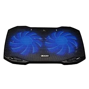 KLIM Pro Laptop Cooling Pad – The Most Powerful Slim PC Fan Cooler for Computer – Rapid Cooling Action – 2 Fans Ventilated Support – Light Quiet – USB Laptops Portable Gaming Stand 11 to 15.6 inches